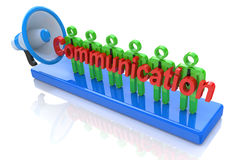 Communication professionals. In the design of business-related information and communications Stock Photos