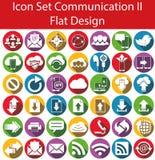 Communication réglée II d'icône plate de conception Photos libres de droits