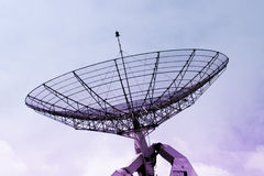 Communication radar on a cloudy sky. Detailed structure Stock Photo