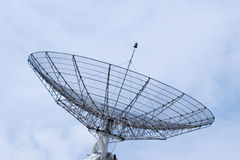 Communication radar on a cloudy sky. Detailed structure Stock Images