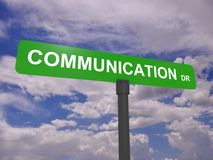 Communication road sign Royalty Free Stock Images