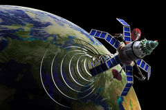 Communication satellite Royalty Free Stock Images