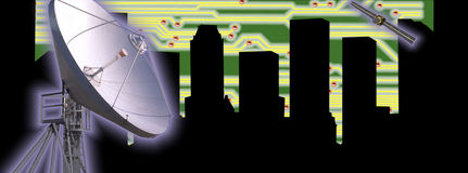 HIGH TECH TECHNOLOGY INDUSTRY CITYSCAPE BACKGROUND Stock Photography