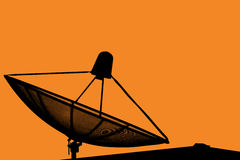 Communication satellite dish on the roof. Royalty Free Stock Images