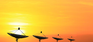 Communication satellite dishes Stock Images