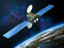 Communication satellite Royalty Free Stock Photos