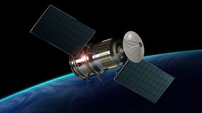 Communication satellite orbiting the planet Royalty Free Stock Image