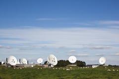 Communication satellites, Burum, Holland Royalty Free Stock Photos