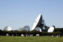 Communication satellites in Burum, Holland Stock Photos
