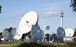 Communication satellites, Burum, Netherlands Stock Image