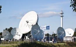 Communication satellites, Burum, Netherlands Stock Image