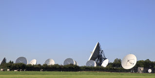 Communication satellites in Frisian Burum, Holland Stock Photos