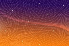 Communication scientifique de technologie de l'information de construction de fond de Web de réseau de gradient de grille photo stock