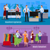 Communication Of Sellers With Customers Compositions Stock Image