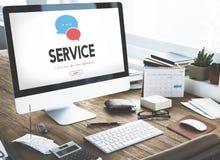 Communication Service Help Desk Concept Stock Photos