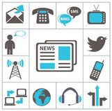 Communication. Set icons Royalty Free Stock Photos