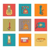 Vector communication set royalty free illustration
