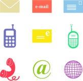Communication shapes Royalty Free Stock Image