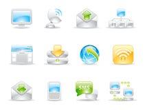 Communication shiny icons Stock Photography