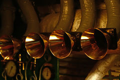 Communication on ship. Communication tube on destroyer in engine room Royalty Free Stock Photos