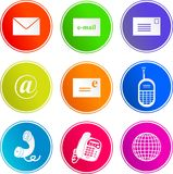 Communication sign icons stock illustration