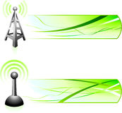 Communication Signal with Banners Royalty Free Stock Images