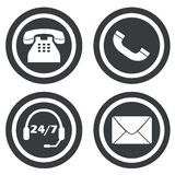 Communication signs small set Stock Photography