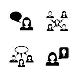 Communication. Simple Related Vector Icons royalty free illustration