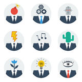 Communication skills concept, people character avatars Stock Photo