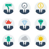 Communication skills concept, people character avatars Royalty Free Stock Photography