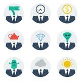 Communication skills concept, people character avatars. People traits at work, emotional intelligence, psychology, vector illustration Royalty Free Stock Photography
