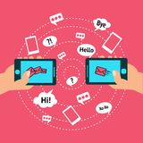 Communication and smart phone Royalty Free Stock Photography