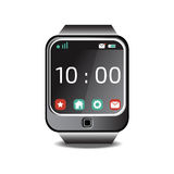Communication with smart watch icon  illustration Royalty Free Stock Photography