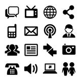 Communication and Social Icons Set. Vector Royalty Free Stock Photography