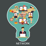 Communication. Social network. Stock Photography