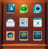 Communication and social networking. Mobile devices apps/services icons. Part 2 of 12 vector illustration