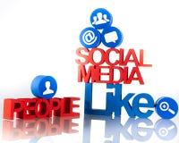 Communication sociale de media illustration de vecteur