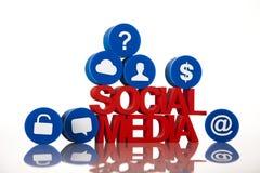 Communication sociale de media illustration stock