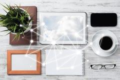 Communication sociale et concept global de mise en réseau photos stock