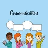 Communication speech bubble Royalty Free Stock Photos