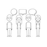 Communication speech bubble Royalty Free Stock Images