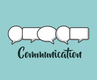 Communication speech bubble stock illustration