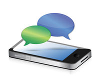 Communication speech bubbles smartphone Royalty Free Stock Image