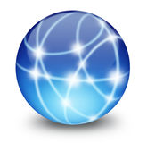Communication Sphere. Sphere or globe with points of shiny points of light Royalty Free Illustration