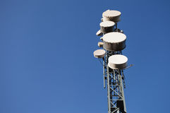 Communication station on the sky Stock Photos