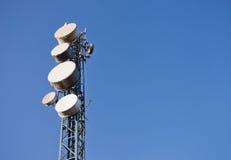 Communication station on the sky Stock Photo