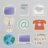 Communication stickers Royalty Free Stock Image