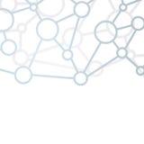 Communication structure net background Stock Image