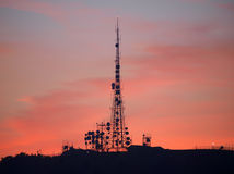 Communication Sunset Royalty Free Stock Image