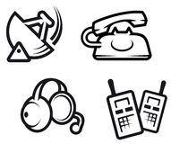 Communication symbols stock illustration